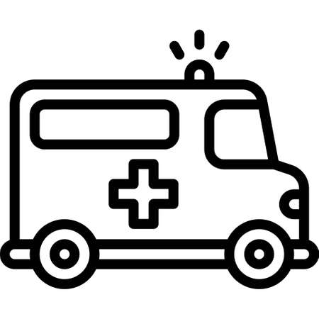 Ambulance icon, transportation related vector illustration Illustration