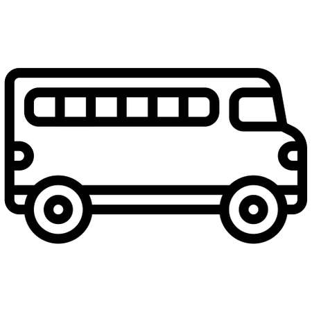 Bus icon, transportation related vector illustration
