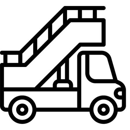 Stair Car icon, transportation related vector illustration