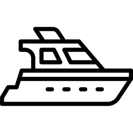 Yacht icon, transportation related vector illustration