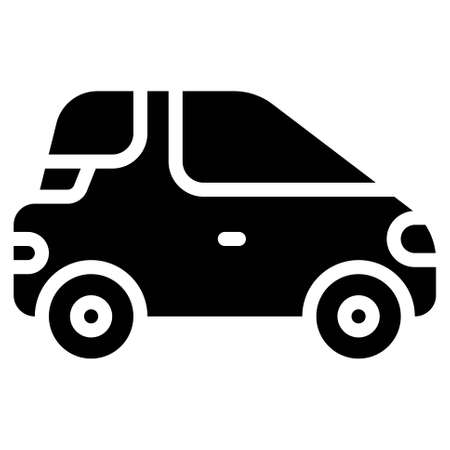 Microcar icon, transportation related vector illustration