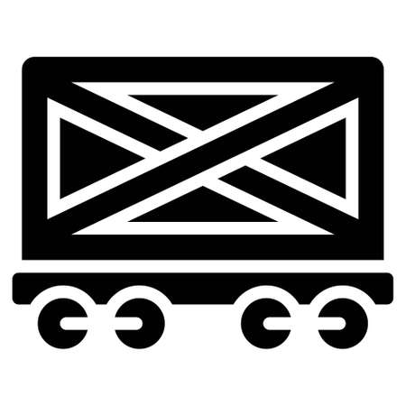 Bogie container icon, transportation related vector illustration