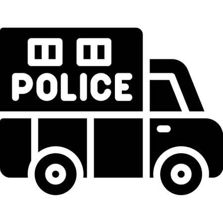 Police van icon, transportation related vector illustration Illustration