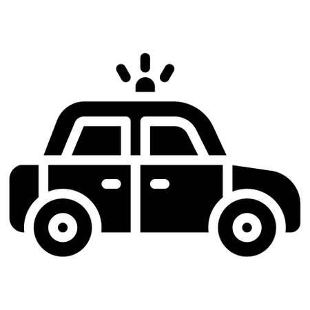 Police car icon, transportation related vector illustration Illustration