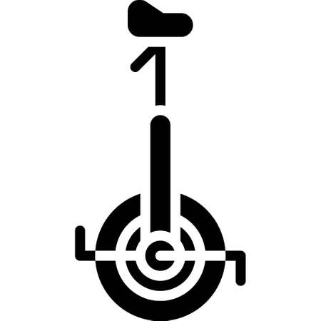 Unicycle icon, transportation related vector illustration