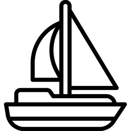 Catamaran icon, transportation related vector illustration