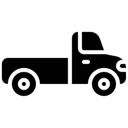 Pickup truck icon, transportation related vector illustration