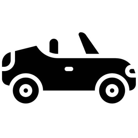 Sports car icon, transportation related vector illustration