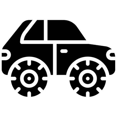 Bigfoot icon, transportation related vector illustration Illustration