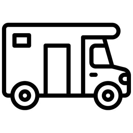 Campervan icon, transportation related vector illustration Illustration