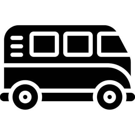 Van icon, transportation related vector illustration