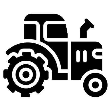 Tractor icon, transportation related vector illustration