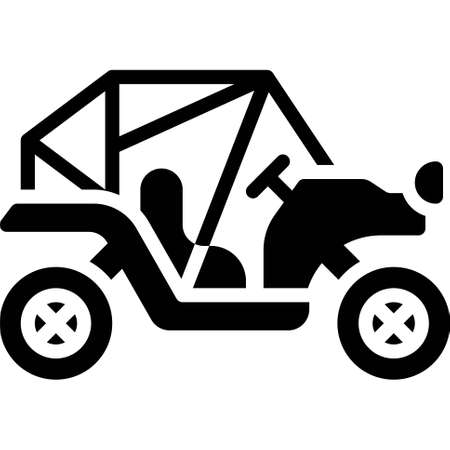 Buggy icon, transportation related vector illustration