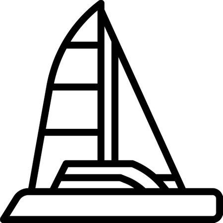 Sailboat icon, transportation related vector illustration