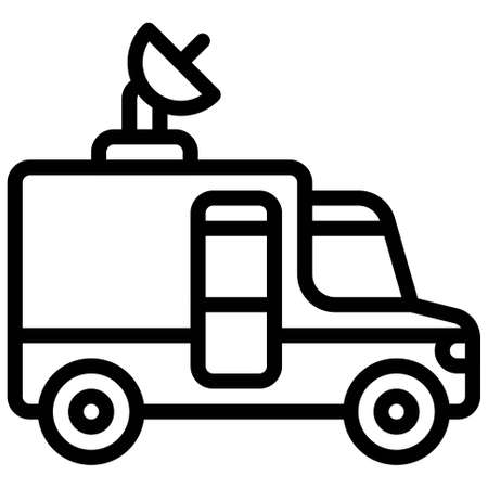 Production truck icon, transportation related vector illustration