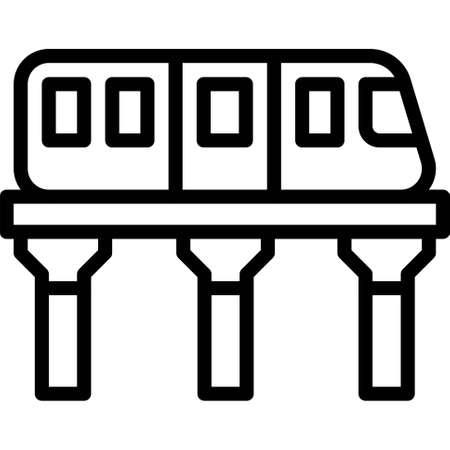 Skytrain icon, transportation related vector illustration