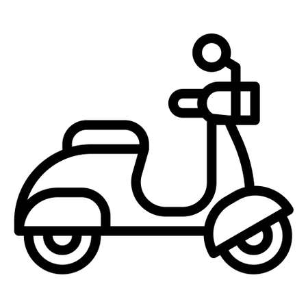 Motorcycle icon, transportation related vector illustration