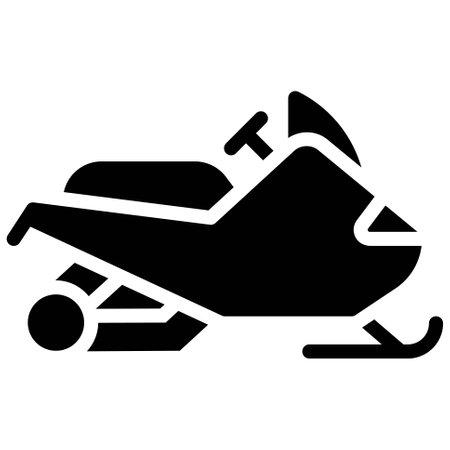 Snowmobile icon, transportation related vector illustration Illustration
