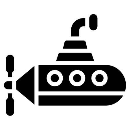Submarine icon, transportation related vector illustration Illustration