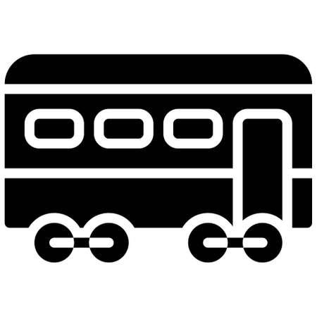 Passenger car icon, transportation related vector illustration