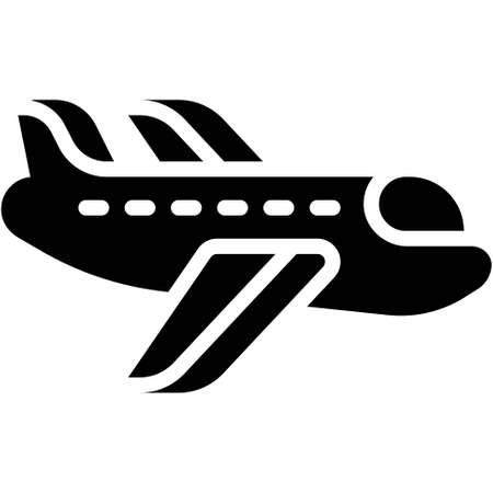 Airplane icon, transportation related vector illustration
