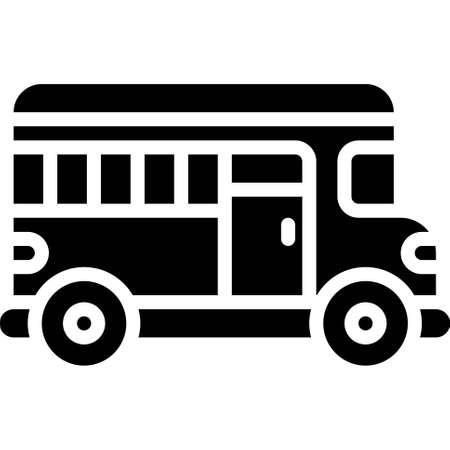 School bus icon, transportation related vector illustration Illustration