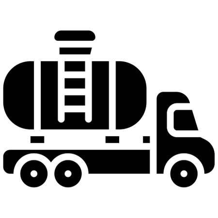 Tank truck icon, transportation related vector illustration