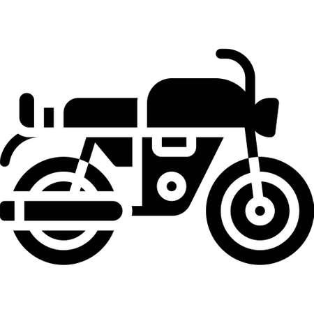 Chopper icon, transportation related vector illustration