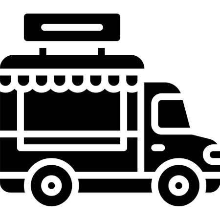 Food truck icon, transportation related vector illustration Illustration