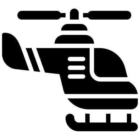 Helicopter icon, transportation related vector illustration