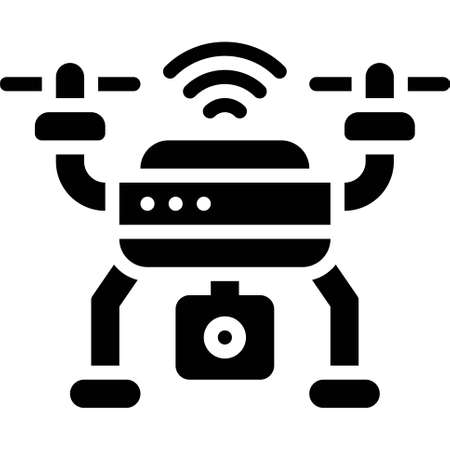Drone icon, transportation related vector illustration
