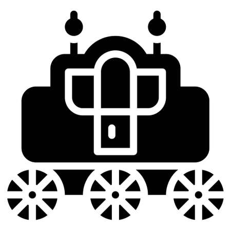 Carriage icon, transportation related vector illustration