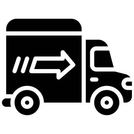 Delivery Pickup Truck icon, transportation related vector illustration Illustration