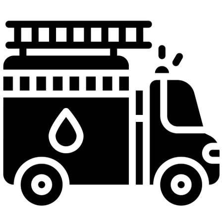 Fire engine icon, transportation related vector illustration Illustration