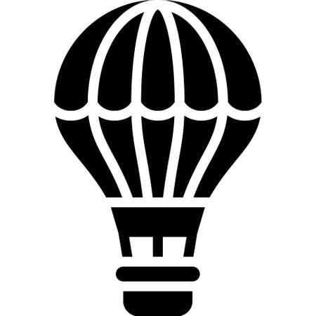 Hot air balloon icon, transportation related vector illustration Illustration
