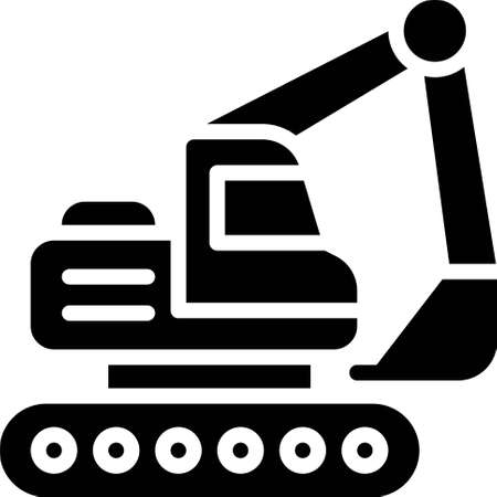 Backhoe icon, transportation related vector illustration