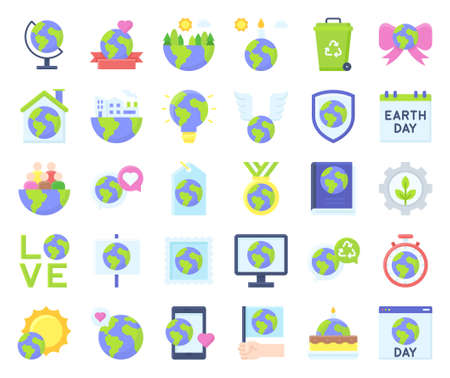 International Mother Earth Day related icon set 2, vector illustration
