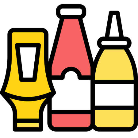 Squeeze bottle icon, Supermarket and Shopping mall related vector illustration Ilustración de vector