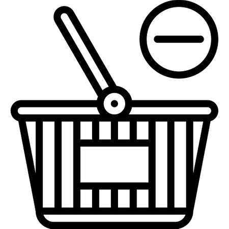 Remove from Basket icon, Supermarket and Shopping mall related vector illustration
