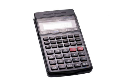calculator on white background Stock Photo