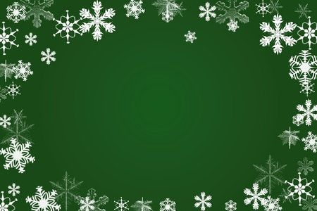 abstract art green snow background cart