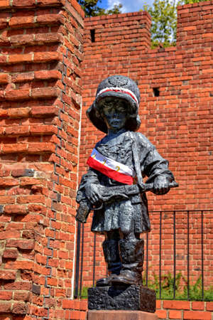 a monument to the little insurgent Warsaw in the Old Town in Warsaw
