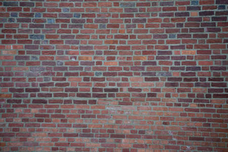 elegant texture of a wall made of red bricks with a white mortar Stock fotó