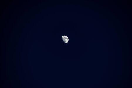 beautiful calm night landscape in a square in a cloudless sky