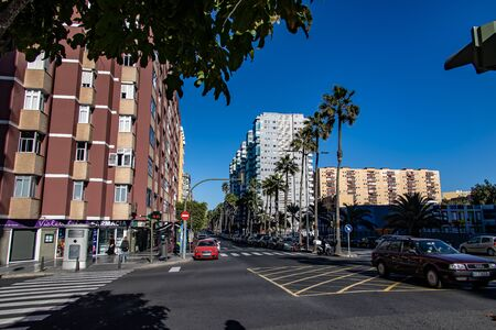 beautiful urban landscape from the Spanish capital Canary Island Las Palmas Gran Canaria with streets and buildings 版權商用圖片