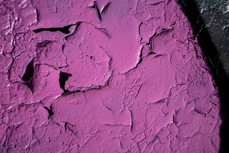 beautiful background with pink painted wall paint in close-up