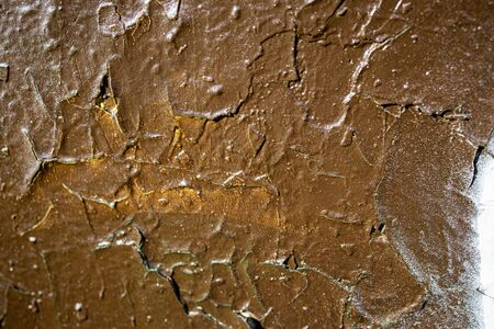 beautiful background with brown painted wall paint in close-up