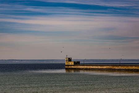 beautiful, peaceful holiday landscape from the Polish Baltic Sea Standard-Bild