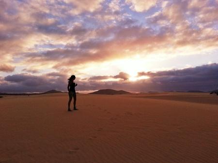 Waiting for the sunset: Fuerteventua