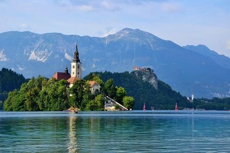 bled: Lake Bled Stock Photo